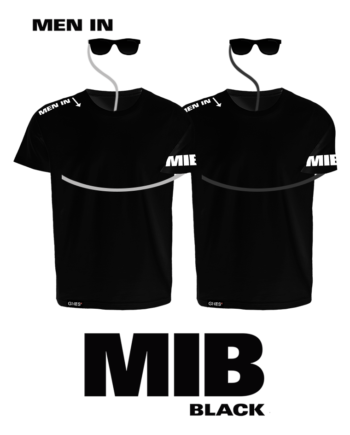 MIB Tricou 100% Bumbac, Negru, GHES